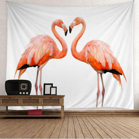 Flamingo Couple Wall Art Tapestry - Pink - W59 Inch * L79 Inch