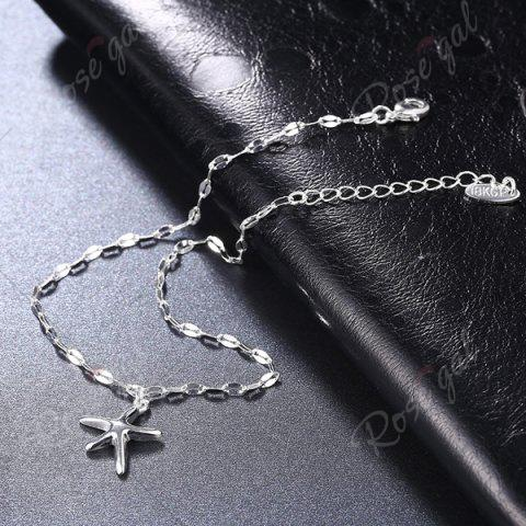 Online Starfish Cute Charm Anklet - SILVER  Mobile