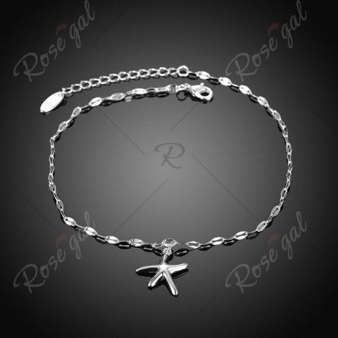 Outfit Starfish Cute Charm Anklet - SILVER  Mobile