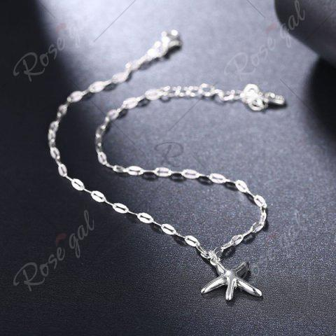 Store Starfish Cute Charm Anklet - SILVER  Mobile