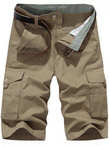 Shops Zipper Fly Chino Cargo Shorts KHAKI 31