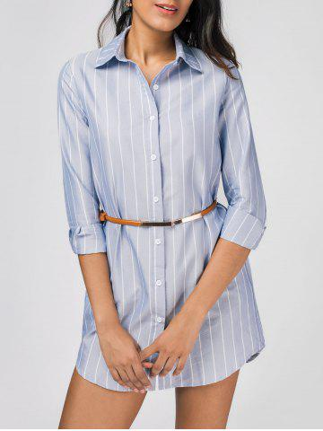 Outfits High Low Stripes Shirt Dress