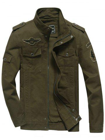 Buy Front Pocket Embroidery Patch Design Jacket