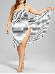 Plus Size Beach Stripe Cover Up Dress