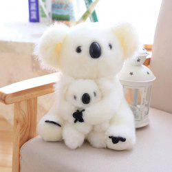 Koala Mother and Baby Stuffed Animal Toy - WHITE