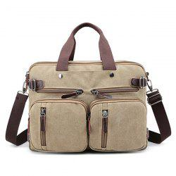 Canvas Multi Zips Tote Bag