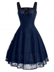 Butterfly Floral Vintage Fit and Flare Dress