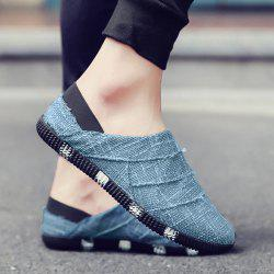 Color Block Linen Casual Shoes - LIGHT BLUE