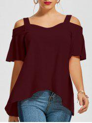 Asymmetrical Cold Shoulder Top -