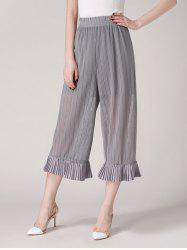 Ruffles See Through Wide Leg Pants