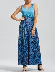 Casual Print Floor Length Tank Dress