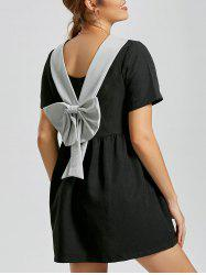 Back Bowknot Babydoll Dress