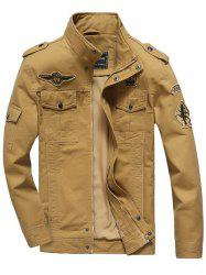 Front Pocket Embroidery Patch Design Jacket
