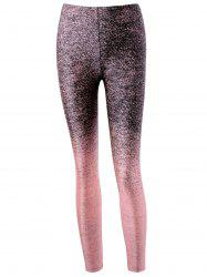 Leggings serrés de yoga Heather - ROSE PÂLE
