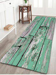 Flannel Skidproof Wood Grain Print Bath Rug