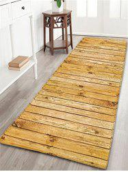 Wood Grain Flannel Skidproof Bath Rug