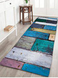 Plaid Wood Grain Flannel Skidproof Rug