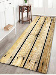 Wood Grain Printed Skidproof Flannel Rug - WOOD COLOR