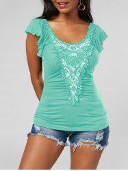 Lace Applique Top - MINT