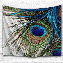 Peacock Feather Wall Art Tapestry Hanger