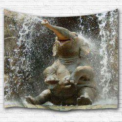 Wall Hanging Elephant Spray Water Tapestry