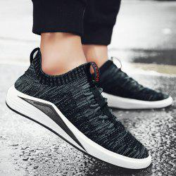 Colour Block Mesh Breathable Casual Shoes - BLACK