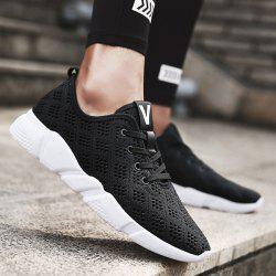 Mesh Breathable Athletic Shoes - BLACK