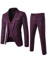 Single Button Blazer and Pants Business Twinset