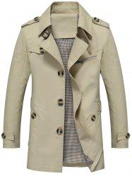 Slim Fit Lapel Button Up Coat