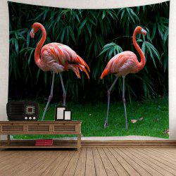 Wall Hanging Flamingo Bamboo Leaf Tapestry -