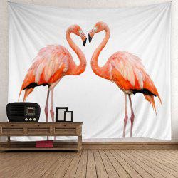 Flamingo Couple Wall Art Tapestry -