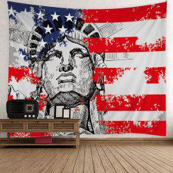 USA Flag Statue of Liberty Print Patriotic Tapestry