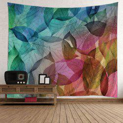 Wall Hanging Art Decor Leaf Print Tapestry - COLORFUL