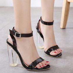 Clear Heel Transparent Plastic Sandals