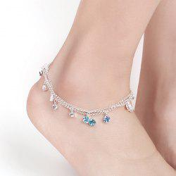 Multilayered Rhinestone Charm Anklet