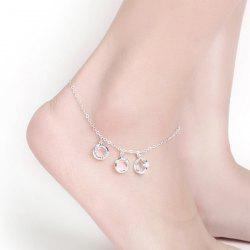 Artificial Crystal Round Charm Anklet