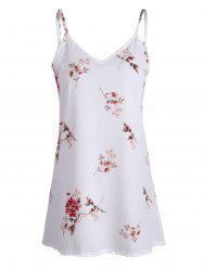 Floral Print Mini Trapeze Dress