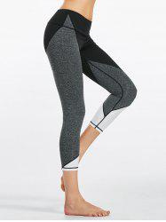 Capri Colorblock  Fitness Leggings - BLACK