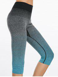 Leggings imprimés Ombre Capri Sports - Bleu L