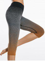 Printed Ombre  Capri Sports Leggings