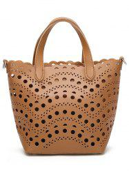 Hollow Out Handbag and Interior Bag