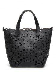 Hollow Out Handbag and Interior Bag -