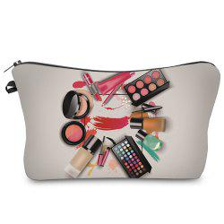 Cosmétique 3D Print Makeup Clutch Bag - Gris