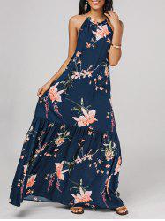 Floral Ruffled Maxi Dress -