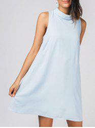 Keyhole Chiffon Mini Dress -