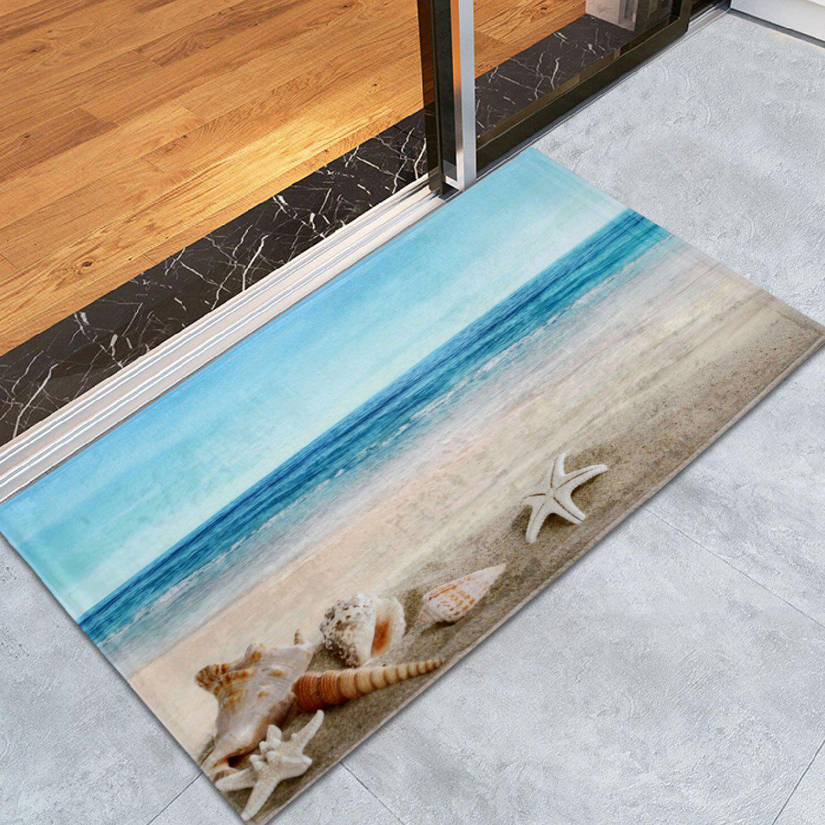 Non-Slip Beach Scenery Soft Coral Fleece Area RugHOME<br><br>Size: W24 INCH * L35.5 INCH; Color: COLORMIX; Products Type: Bath rugs; Materials: Coral FLeece; Pattern: Scenic; Style: Beach Style; Shape: Rectangle; Package Contents: 1 x Area Rug;