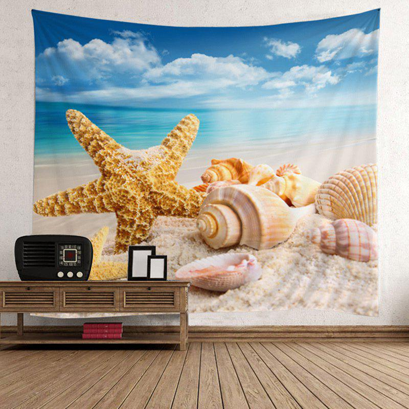 Shop Starfish Conch Beach Style Wall Hanging Tapestry