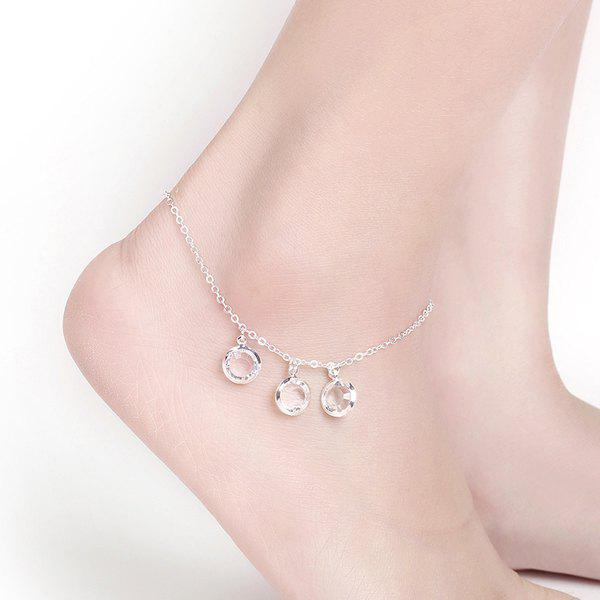 Online Artificial Crystal Round Charm Anklet