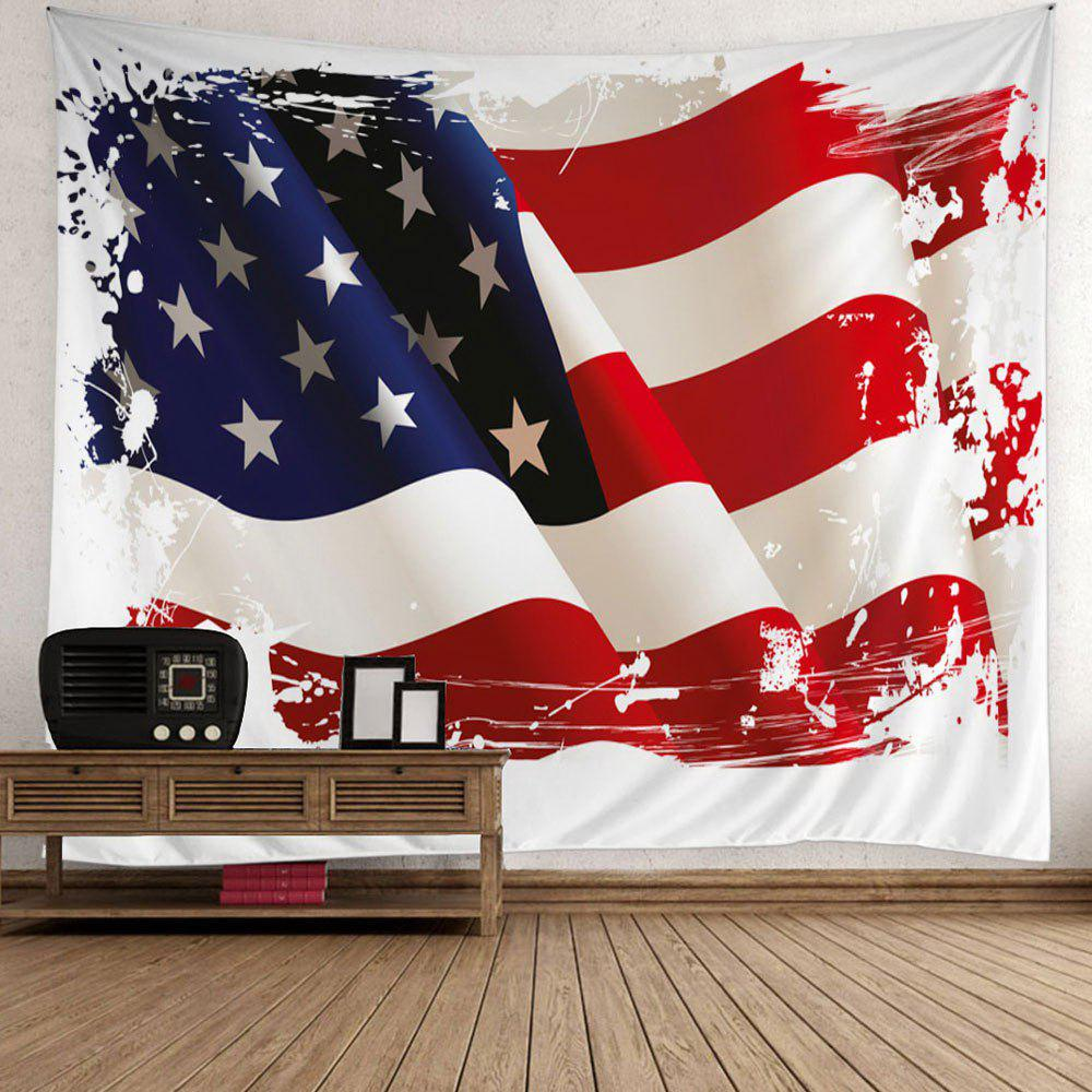 3D Patriotic American Flag Wall TapestryHOME<br><br>Size: W51 INCH * L59 INCH; Color: COLORFUL; Style: Romantic; Material: Polyester; Feature: Removable,Washable; Shape/Pattern: Flag; Weight: 0.5000kg; Package Contents: 1 x Tapestry;