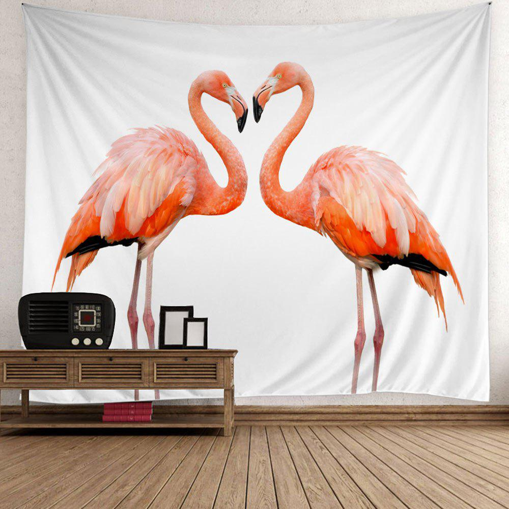 Fashion Flamingo Couple Wall Art Tapestry